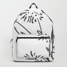 Line Art of Flowers 2 Backpack