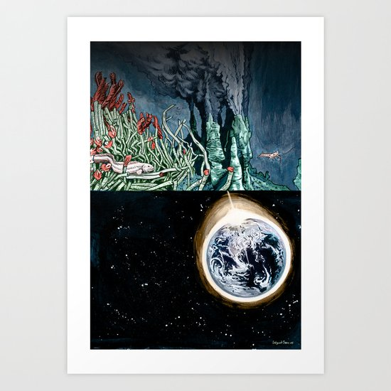 Life on the event horizon 1 Art Print