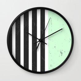 LIGHT MINT STRIPES Wall Clock