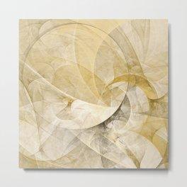 Series Abstract Art in Earth Tones 1 Metal Print