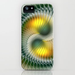 Like Yin and Yang, Abstract Fractal Art iPhone Case