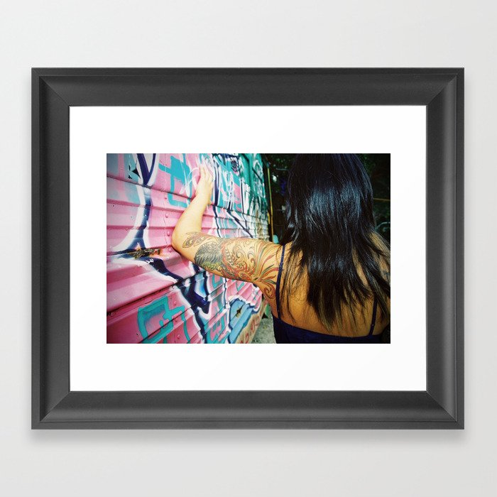 Phoenix grafitti Framed Art Print