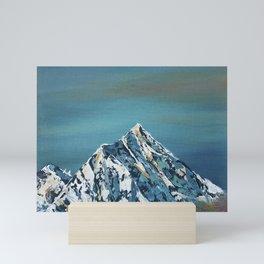 Everest sky, Himalayas oil painting Mini Art Print