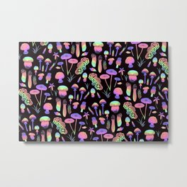 Psychedelic fungi - BKBG Metal Print