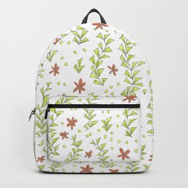 Pink flowers in the garden pattern Backpack