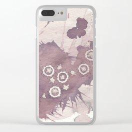 Polka Fleur Clear iPhone Case