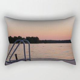 Sunset Swim Rectangular Pillow