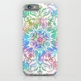 Nature Mandala in Rainbow Hues iPhone Case