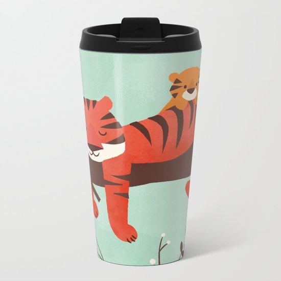 Sleeping Tiger Metal Travel Mug