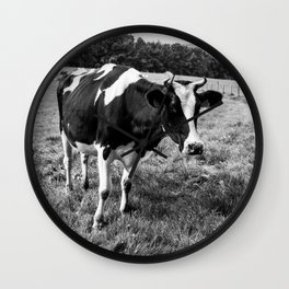 Black and White Cow Wall Clock