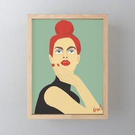 Woman Model Framed Mini Art Print