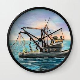 Shrimping Wall Clock