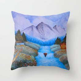 The Brilliance and Beauty of Contradiction Throw Pillow