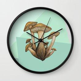 Geometric Fungi Wall Clock