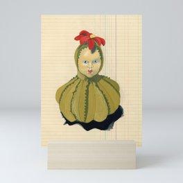 Creepiest Yet Most Wonderful Pincushion Ever in Gouache Mini Art Print
