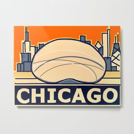 Chicago Skyline Abstracted Metal Print