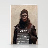 planet of the apes Stationery Cards featuring Planet of the Apes  by Rotton Cotton Candy