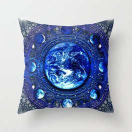 Moon Phases III Throw Pillow