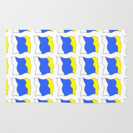 flag of canary islands-canaries,canary,atlantic,canarias,Canarian,canario,canaria,spain,spanish, Rug