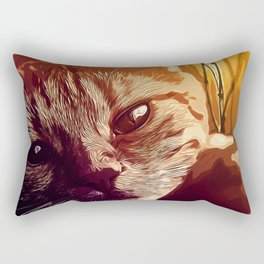 set your cat free vector art Rectangular Pillow
