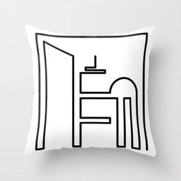 Little Big City Throw Pillow