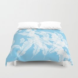 Baby blue feathers Duvet Cover