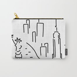 new York the Statue of Liberty skyscraper Carry-All Pouch