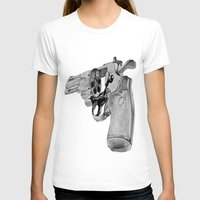 gun T-shirts featuring gun by VoicesRantOn
