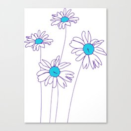Simple Daisy | Line Drawing Canvas Print