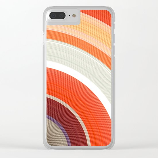 Shades of Orange Rings Clear iPhone Case
