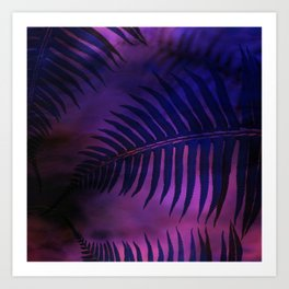 Forest Ferns - Warm Art Print