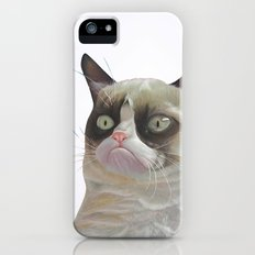 Grumpy  White Slim Case iPhone (5, 5s)