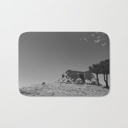"""A Castle On Sandia"" Bath Mat"