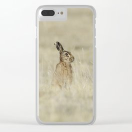 Brown hare Clear iPhone Case