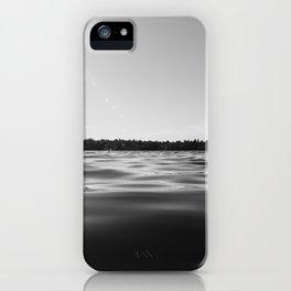 Black Lake Sunbursts iPhone Case