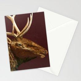 Big Bull Elk Profile Stationery Cards