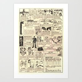 Vintage Comic Book Classified Ad Print Art Print