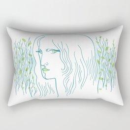 Woods Woman 1 Rectangular Pillow