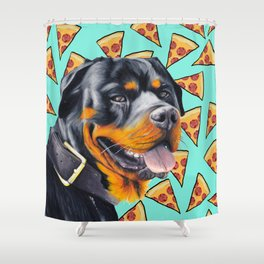 Rotty Pizza Shower Curtain