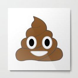 Emoji Poop Metal Print