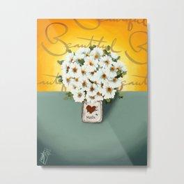 Jar of Flowers O, take two Metal Print