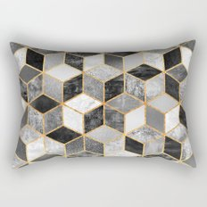Black & White Cubes Rectangular Pillow