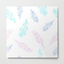 Pencil Feather Pattern Metal Print