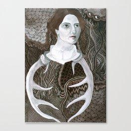 Antler Lady Canvas Print