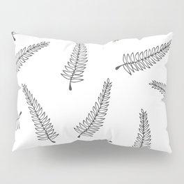 Branch Pattern White Pillow Sham