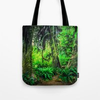 giants Tote Bags featuring Mossy Giants by JMcCool