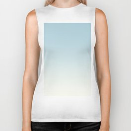 BLUE STRIKES - Minimal Plain Soft Mood Color Blend Prints Biker Tank