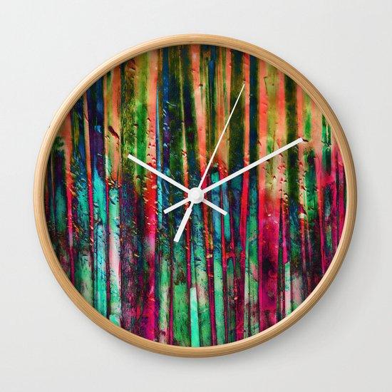 Colored Bamboo Wall Clock