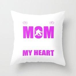 Hockey Goalie Moms Full Heart Mothers Day T-Shirt Throw Pillow
