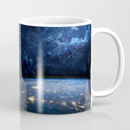 Earth and Galaxy Coffee Mug
